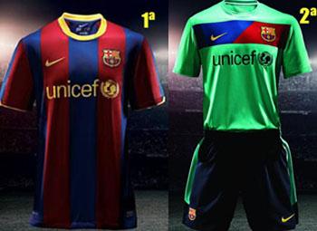 Todas las camisetas del F.C Barcelona de la historia